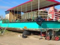 Laevakere puhastamine klaasipuruga, foto SodaBlastBaltic