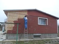 Maja fassaadi puhastamine