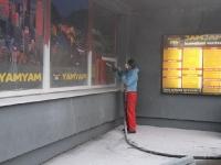 Plastakende puhastamine soodapritsiga, foto SodaBlastBaltic