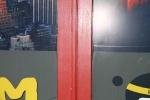 Söögikoha plastakende raamid on kaetud värviga, foto SodaBlastBaltic