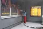 Raamid puhastatakse soodapritsiga, foto SodaBlastBaltic