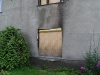 Põlenud maja välisseina puhastamine
