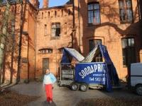 Sangaste lossi puhastamine soodapritsiga, foto SodaBlastBaltic