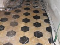 Sangaste lossi kivipõranda puhastamine, foto SodaBlastBaltic