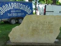 Soodapritsiga puhastatud Jüriöö mälestusmärk, foto SodaBlastBaltic