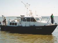 Uurimislaeva Õnneleid puhastamine, foto: Veeteede Ameti Teataja 2015-2