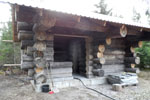 Log house cleaning